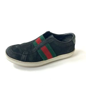 Gucci Suede Slip on Sneakers
